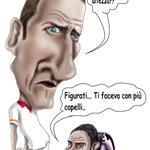 """Caricatura/Vignetta - Totti - Miccoli """"La differenza"""""""