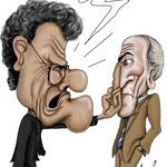 """Caricatura/Vignetta - Capello - Calderon """"Esonerato"""""""