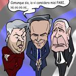 """Vignetta - Ancelotti - Mourinho - Ranieri """"Tra i due pareggianti il terzo.."""""""