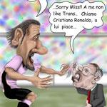 """Caricatura/Vignetta - Amauri - Ferguson """"Il sogno"""""""