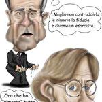 """Caricatura/Vignetta - Prodi - Bonino """"L'Esorcista"""""""
