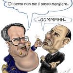 """Caricatura/Vignetta - Prodi - berlusconi """"Il Tesoretto"""""""