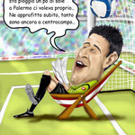 "Caricatura/Vignetta - Amelia ""il gol di Mascara"""
