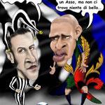 """Caricatura/Vignetta - Del Piero - Adriano """"Il Jolly e L'Asso"""""""