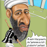 "Caricatura/Vignetta - Osama Bin Laden - ""Newcastle horror picture show"""