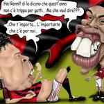 """Caricatura/Vignetta - Ronaldo - Ronaldinho """"Grasso è Bello"""""""