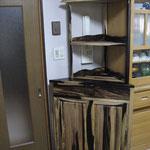 黒柿の収納棚