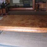 欅極上杢座卓6尺