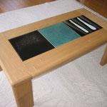 陶板入りリビングテーブル