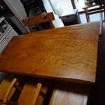欅のダイニングテーブルセット