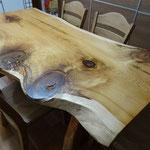 古杉のダイニングテーブル ナラのイスセット