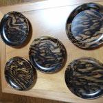 黒柿の銘々皿