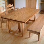 栗のダイニングテーブルセット