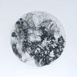 Kristin Finsterbusch, planet 5 black, Tiefdruck, vernis mou, 2015, d 13 cm