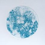 Kristin Finsterbusch, planet 5 blue, Tiefdruck, vernis mou, 2015, d 13 cm
