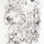 Kristin Finsterbusch, und nun ein kleines Stück Erzgebiege, Lithografie, Kreide, 1996, 55x47 cm