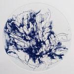 Kristin Finsterbusch, planet 10 blue, Tiefdruck, vernis mou, 2018, d 13 cm