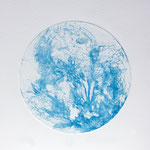 Kristin Finsterbusch, planet 4 blue, Tiefdruck, vernis mou, 2015, d 13 cm