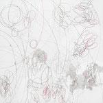 Kristin Finsterbusch, L 1,Zeichnung, Bleistift, Farbstift, 2009, 20x20 cm