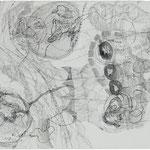 Kristin Finsterbusch, Roma Z1, Zeichnung, Tusche, 1998, 37 x 50 cm