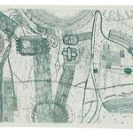 Kristin Finsterbusch, Dresden 2, Radierung, 2000, 25x60 cm