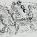 Kristin Finsterbusch, Roma Z 3, Zeichnung, Tusche, 1998, 32 x 55 cm