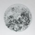 Kristin Finsterbusch, planet 6 black, Tiefdruck, vernis mou, 2015, d 13 cm