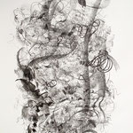 Kristin Finsterbusch, Elbsandstein, Lithografie, Kreide, 1996, 59x51 cm