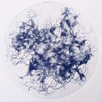 Kristin Finsterbusch, planet 9 blue, Tiefdruck, vernis mou, 2018, d 13 cm
