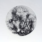 Kristin Finsterbusch, planet 4 black, Tiefdruck, vernis mou, 2015, d 13 cm