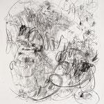 Kristin Finsterbusch, genug gedacht, Pech gehabt, Lithografie, Kreide, 1996, 75x53 cm