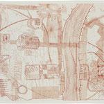 Kristin Finsterbusch, Wü F1, Radierung, 2000, 38 x 48 cm