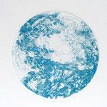Kristin Finsterbusch, planet 3 blue, Tiefdruck, vernis mou, 2015, d 13 cm