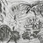 Kristin Finsterbusch, Ein Geschenk an den Meister der Stadt, Tiefdruck, vernis mou, 2006, 20x30 cm