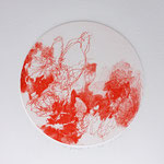 Kristin Finsterbusch, planet 1 red, Tiefdruck, vernis mou, 2015, d 13 cm