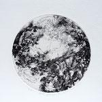 Kristin Finsterbusch, planet 3 black, Tiefdruck, vernis mou, 2015, d 13 cm