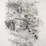 Kristin Finsterbusch, Scheibe, Lithografie, Kreide, 1996, 53x76 cm