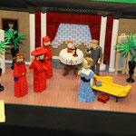 La Inquisición española al estilo LEGO (construido por Iain Heath para Brickcon 2011). Otro ejemplos de la influencia en la cultura popular de esta frase.