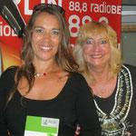 Caroline mit Radiomoderatorin Marion Hanel, radioBERLIN 88,8