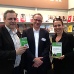 Leipzig liest: Coautor Christian Schmid-Egger, unser Beck Lektor Stephan Kilian und ich