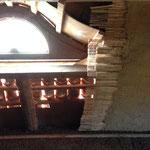 Wandaufbau mit Seegras in der Dachschräge, Lauenburgische Lehmwerkstatt