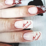 Erika's Nagelstudio - Nails - Weiss-Rot Design