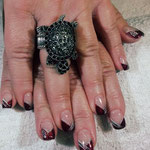Erika's Nagelstudio - Nails - Schwarz Fliege