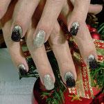 Erika's Nagelstudio - Nails - Glitter-Schwarz