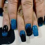 Erika's Nagelstudio - Nails - Blau-Schwarz