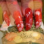 Erika's Nagelstudio - Nails - Rot-Weiß Sterne