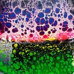 -new horizon- 29cm x 29cm, Acryl auf 3D-Leinwand, fluoreszierend