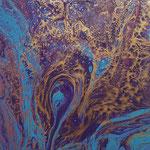 -Blauschwanstein- 29cm x 29cm, Acryl auf 3D-Leinwand