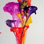 -Schmetterding-  70cm x 30cm, Acryl auf Leinwand, fluoreszierend