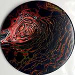 -Tief- Ø25cm x 2cm, Acryl auf Holz